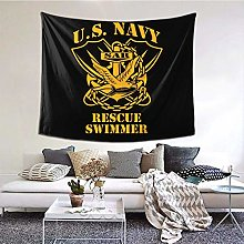 Funny Club Us Navy Rescue Swimmer Tapestry Wall