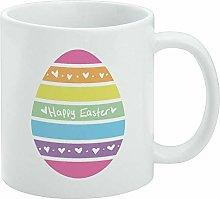 Funny Coffee Mug, Cute Rainbow Happy Easter Egg