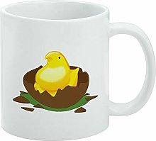 Funny Coffee Mug, Peeps Hatching Out of Chocolate