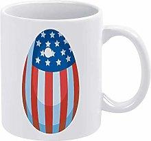 Funny Coffee Mug United States American Flag