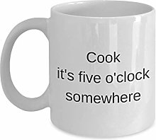 Funny Cook 11oz Coffee Mug - It's Five