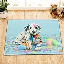 Funny Dalmatian puppies painted Bathroom mats,