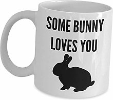Funny Easter Coffee Mugs - Some Bunny Loves You -