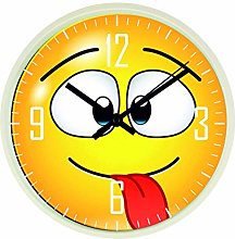 Funny Face Modern Wall Clock, Quiet Tick Sweep