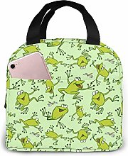 Funny Frogs Gray Cat Divert Attention Lunch Bag