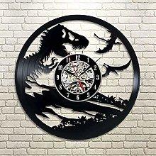 Funny Gifts Vinyl Record Wall Clock Jurassic Park