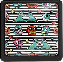 Funny Halloween Pumpkin Zombies Square Cabinet