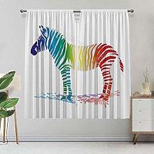 Funny Lihgtproof Curtains, Zebra In Gradient