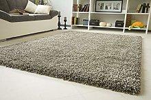 Funny Luxury Shag-Pile Deep-Pile Carpet Grey Size: