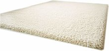 Funny Luxury Shag-Pile Deep-Pile Carpet White