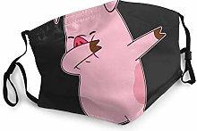 Funny Pig Dabbing Bandana Face Mask Neck