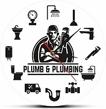 Funny Plumbing Pipe Fitter Wall Clock Plumber