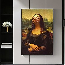 Funny Portrait Figure Canvas Painting print Wall