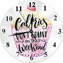 Funny Quote Clock Calories Don't Count On The