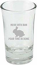 Funny Rabbit Shot Glass Bunny Rabbit Lover Gift