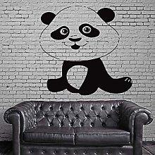 Funny Smiling Panda Vinyl Wall Stickers Bedroom