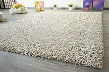 Funny Soft Touch Shaggy Deep-Pile Carpet Beige