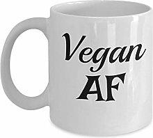 Funny Vegan Mug - Vegan AF - Veganism Mug Funny
