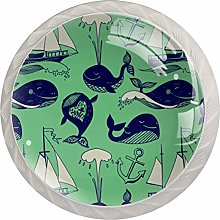 Funny Whales Drawer Round Knobs Cabinet Pull