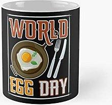 Funny World Egg Day Cafe Bistro Classic Mug   Best