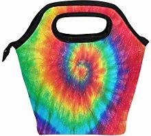 Funnyy Abstract Swirl Rainbow Tie Dye Zipper