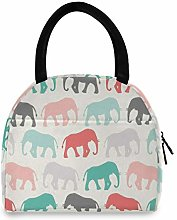 funnyy Animal Bear Elephant Lunch Bag for Women