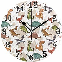 funnyy Animal Dinosaur Print Vintage Round Acrylic