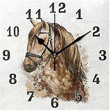 funnyy Animal Horse Face Print Square Acrylic Wall