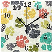 funnyy Colorful Cat Dog Paw Print Square Acrylic