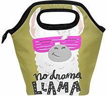 Funnyy Cute Alpaca Llama Face Zipper Insulated