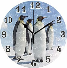 funnyy Cute Animal Penguin Print Round Acrylic
