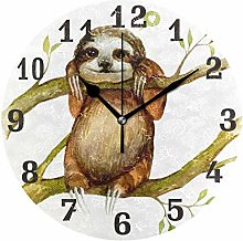 funnyy Cute Animal Sloth Print Round Acrylic Wall