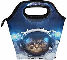 Funnyy Cute Cat Earth Planet Space Zipper