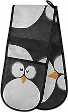 funnyy Cute Penguin Animals Double Oven Gloves