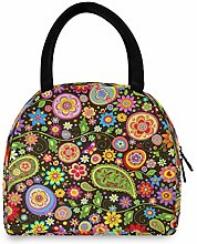 funnyy Daisy Floral Flower Paisley Lunch Bag for