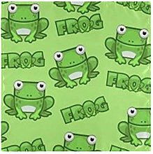 funnyy Funny Green Frog Cloth Napkins Washable