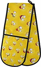 funnyy Funny Yellow Smile Face Double Oven Gloves
