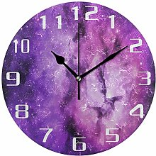 funnyy Galaxy Space Universe Purple Round Acrylic