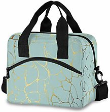 funnyy Gold Glitter Marble Lunch Bags Organizer