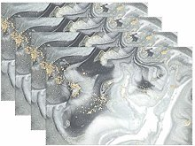 funnyy Gold Glitter Marble Placemats Set of 6