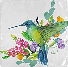 funnyy Hummingbirds Flowers Floral Cloth Napkins