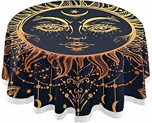 funnyy Indian Floral Paisley Round Tablecloth