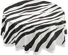 funnyy Leopard Print Round Tablecloth Modern