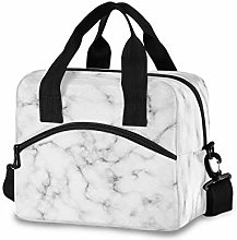 funnyy Marble Stone White Lunch Bags Organizer