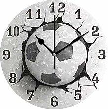 funnyy Sport Football Ball Print Round Acrylic