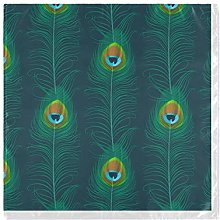 funnyy Teal Feather Peacock Cloth Napkins Washable