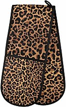 funnyy Tiger Leopard Print Double Oven Gloves Heat