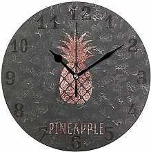 funnyy Tropical Pineapple Print Round Acrylic Wall