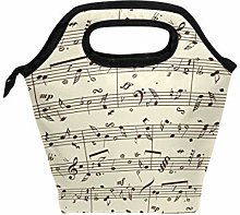 Funnyy Vintage Music Note Musical Theme Zipper