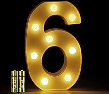 FUNRUI LED Marquee Number Lights Sign Light Up